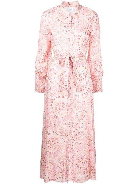 Платье макси длинное - розовое Misa Los Angeles