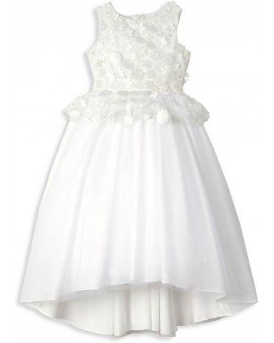 Свободное белое платье из фатина Badgley Mischka