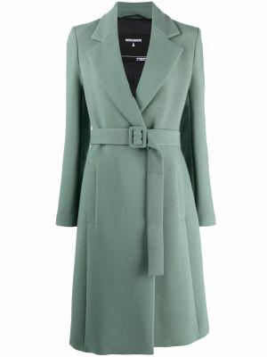 Пальто с поясом - зеленое Patrizia Pepe