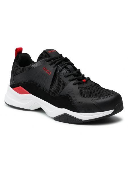 Buty sportowe skorzane - czarne Hugo