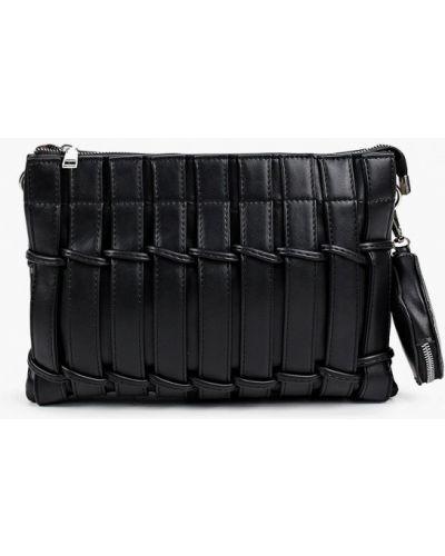 Черная кожаная сумка с ручками Izabella