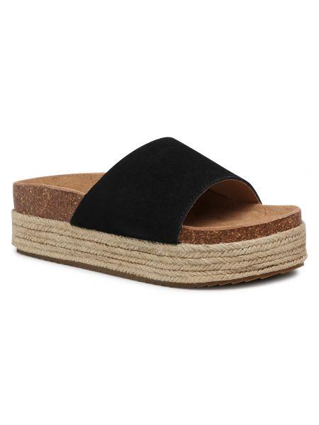 Czarne sandały casual Xti