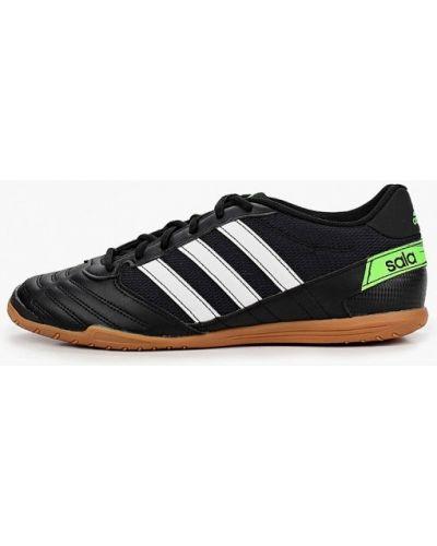 Черные кожаные бутсы Adidas