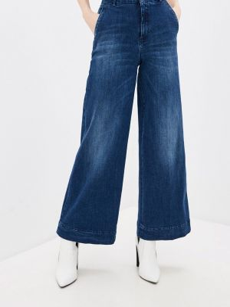 Широкие джинсы расклешенные синие Pinko