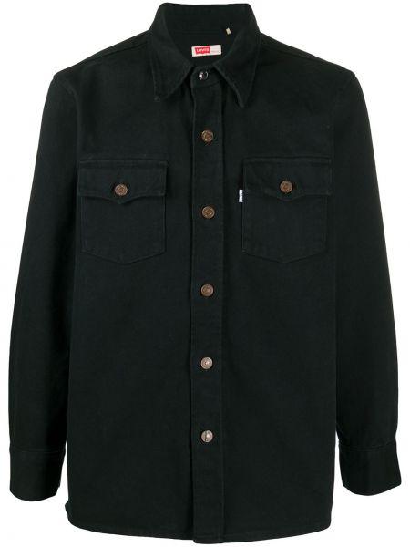 Хлопковая с рукавами черная рубашка Levi's®