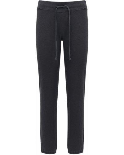 Серые спортивные брюки эластичные с завязками James Perse