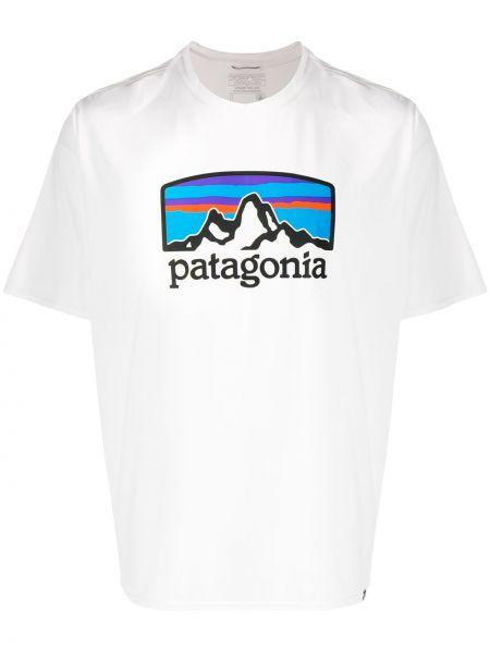 Koszula krótkie z krótkim rękawem z logo prosto Patagonia