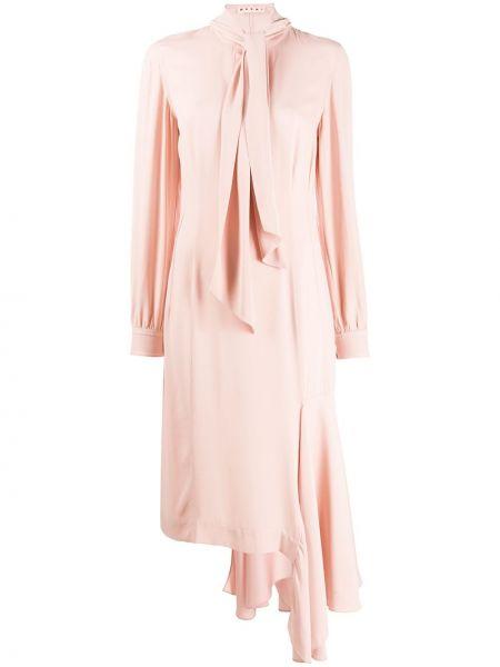 Платье миди на пуговицах приталенное Marni