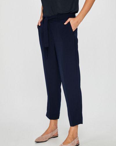 Темно-синие брюки с поясом с завязками Broadway