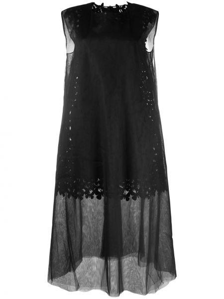 Платье миди сетчатое без рукавов с вырезом на молнии Paskal