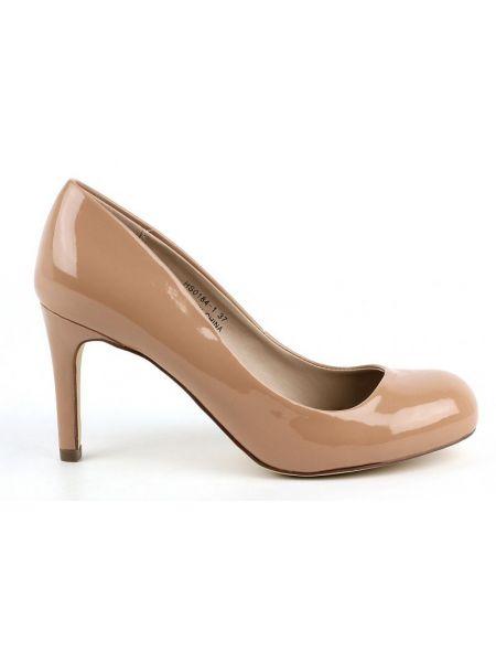 Кожаные туфли - бежевые Plato