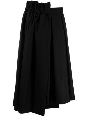 С завышенной талией расклешенная черная юбка Comme Des Garçons Noir Kei Ninomiya