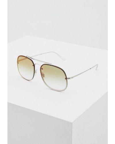 Солнцезащитные очки серебряного цвета Ray-ban
