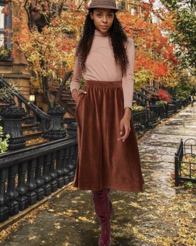 Повседневная юбка вельветовая Mix-mode