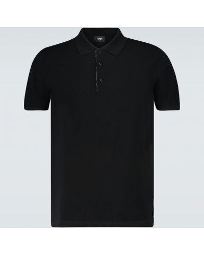 Jedwab bawełna czarny koszula Fendi