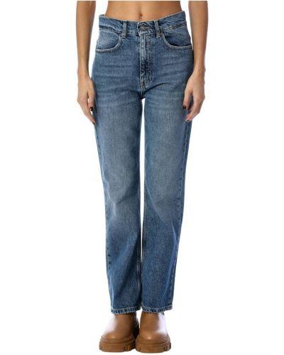 Mom jeans - niebieskie Tensione In