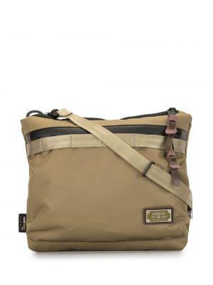 Коричневая нейлоновая сумка на плечо на молнии с карманами As2ov
