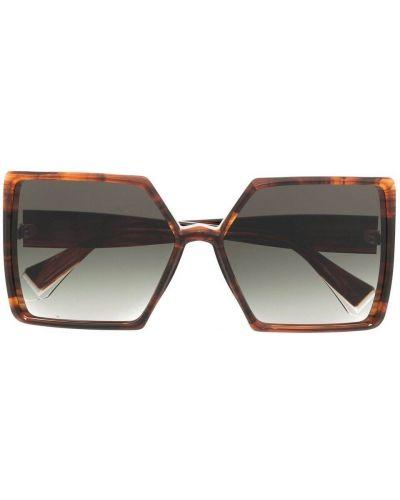 Brązowe okulary oversize Gigi Studios