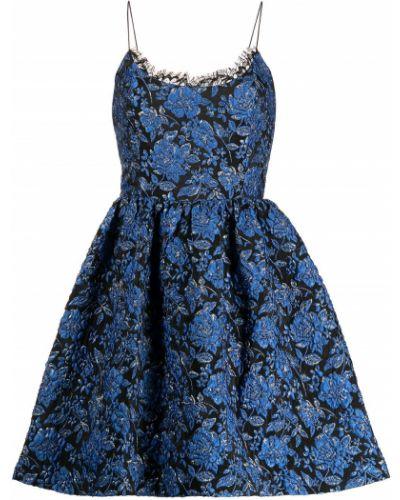 Платье мини без рукавов - синее Alice+olivia