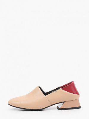 Бежевые кожаные туфли Inario