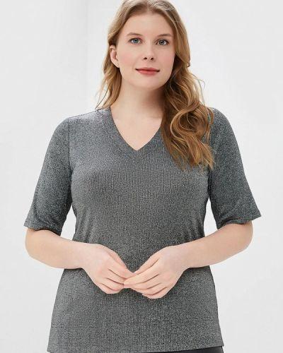 Блузка с коротким рукавом серебряный черная Balsako