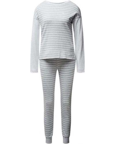 Spodni piżama bawełniana z długimi rękawami w paski Lauren Ralph Lauren