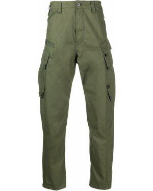 Хлопковые зауженные зеленые брюки карго G-star Raw
