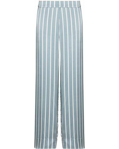 Синие брюки в полоску с карманами Asceno