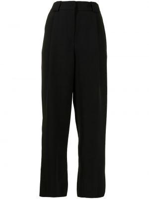 Черные зауженные брюки на крючках Giorgio Armani