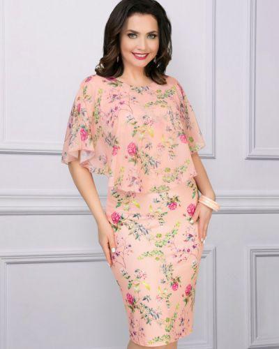 Вечернее платье летнее с цветочным принтом Charutti