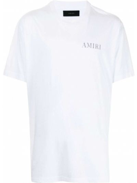 Белая футболка с круглым вырезом Amiri