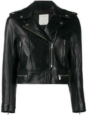 Куртка черная байкерская Sandro Paris