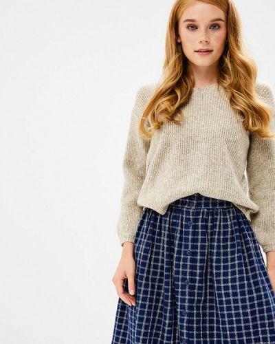 Коричневый пуловер Naf Naf