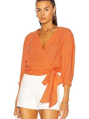 Текстильный плиссированный оранжевый топ Smythe