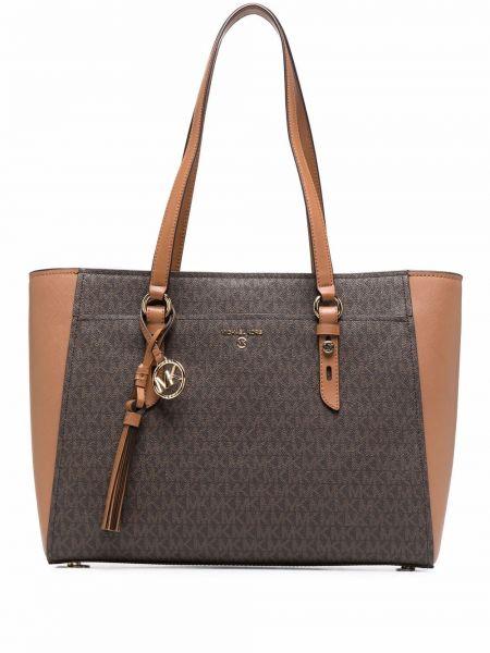 Золотистая коричневая сумка-тоут с карманами Michael Michael Kors