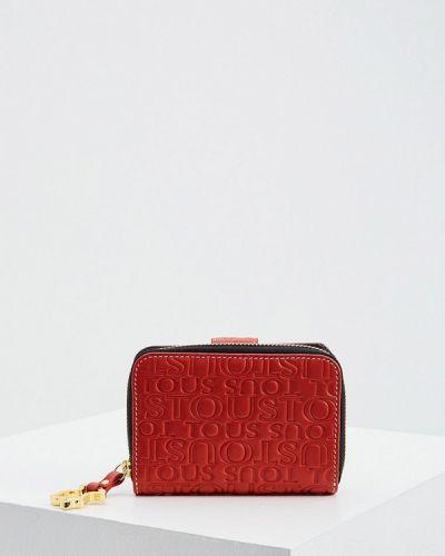 Красный кожаный кошелек Tous