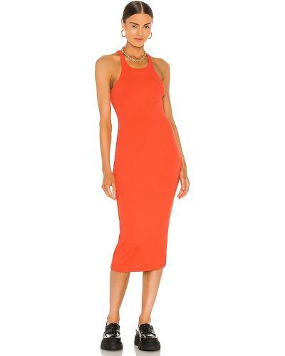 Трикотажное красное платье миди для полных Lna