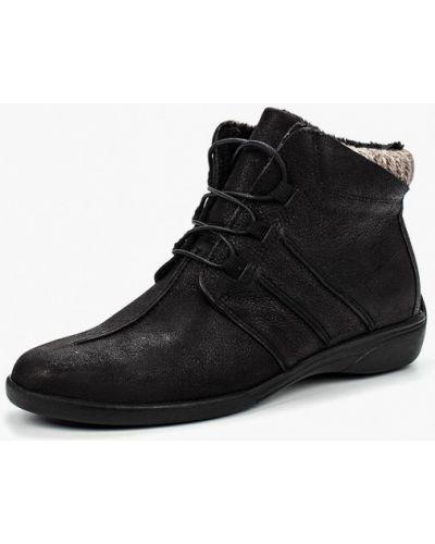 Кожаные ботинки осенние черные Dali