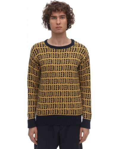 Ażurowy żółty sweter Bode