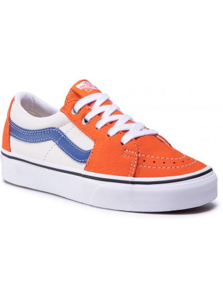Półbuty skórzane casual - pomarańczowe Vans