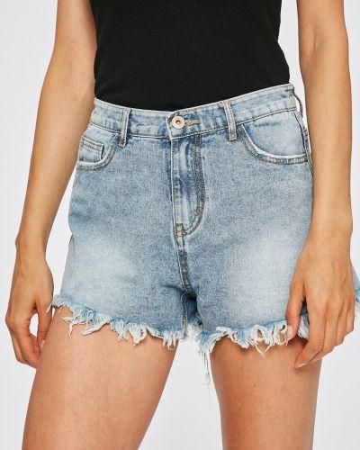 Джинсовые шорты с завышенной талией с карманами Answear