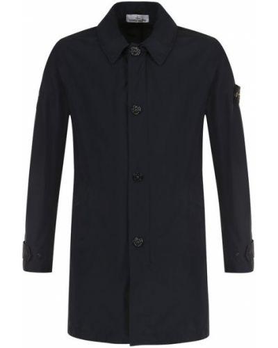 Пальто с капюшоном на молнии однобортное Stone Island