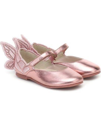Różowy skórzany baleriny Sophia Webster Mini