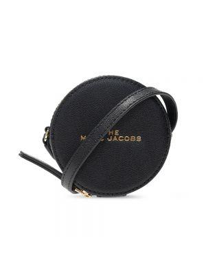 Torba na ramię skórzana - czarna Marc Jacobs