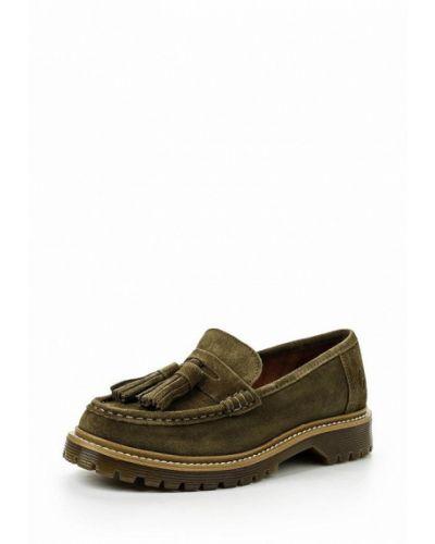 Туфли на каблуке зеленый Bronx