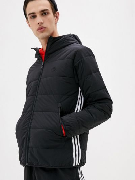 Теплая черная утепленная куртка Adidas Originals