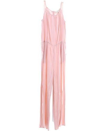 Różowy garnitur ze spodniami elegancki oversize Twinset