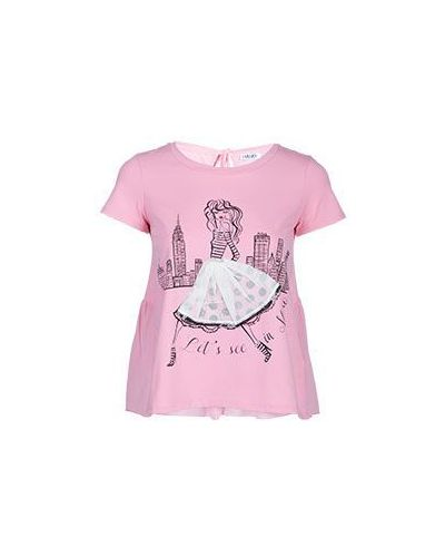 Розовая хлопковая футболка Liu Jo