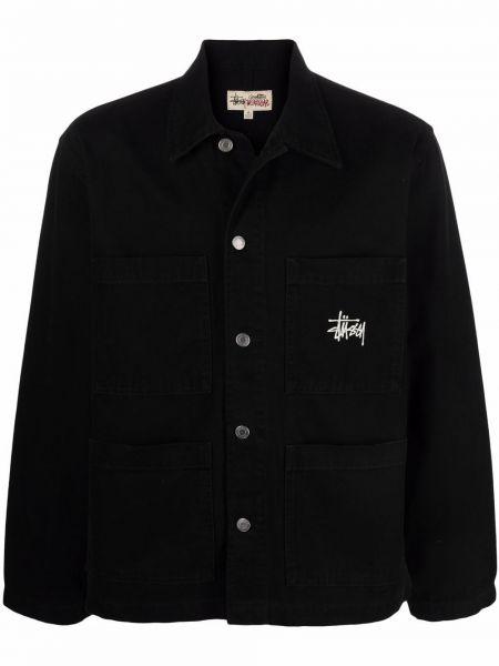 Рубашка с длинным рукавом - черная Stussy
