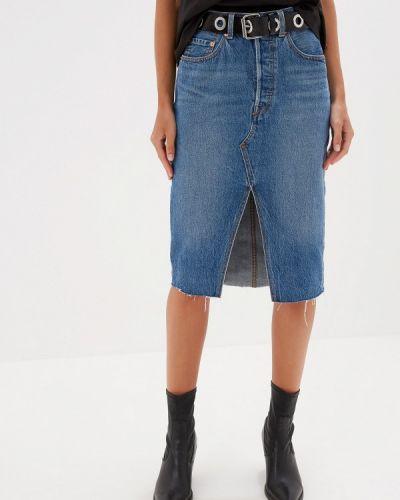 Джинсовая юбка синяя Levi's®